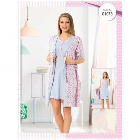 Комплект халат и сорочка для беременных и кормящих мам