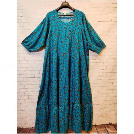Женское длинное летнее платье больших размеров