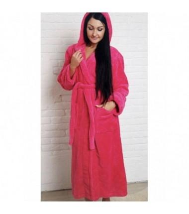 Теплый женский халат из полированной махры