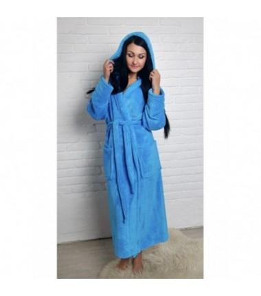 Махровый халат для женщин батал
