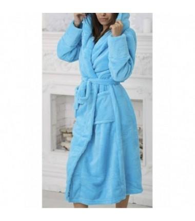 Теплый махровый халат для женщин