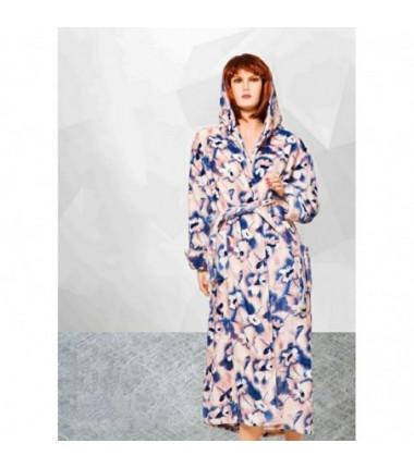 Женский махровый халат больших размеров Romeo Life