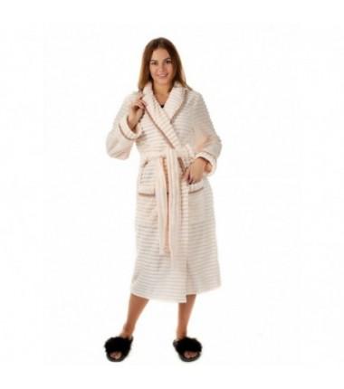 Женский банный махровый халат длинный