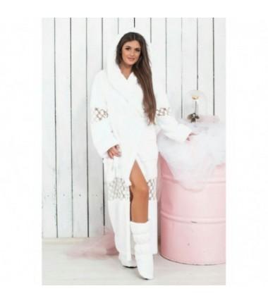 Женский комплект халат махровый с сапожками
