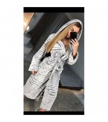 Женский махровый халат на запах полированная махра