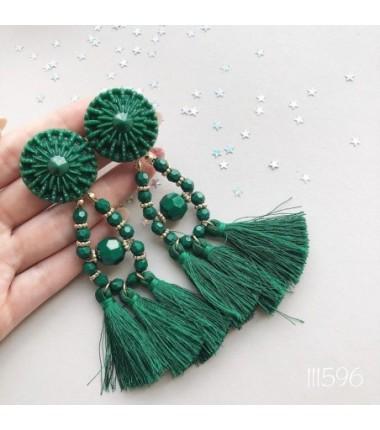 Серьги Зара зеленые