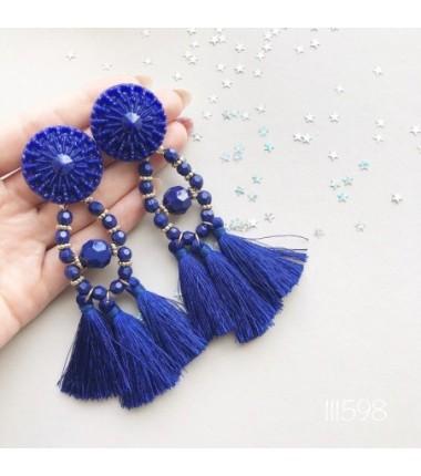 Серьги Зара синие
