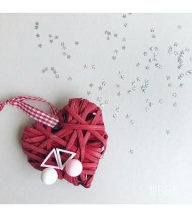 Серьги Мисси бело-розовые